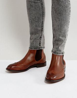 Светло-коричневые кожаные броги H By Hudson Breslin
