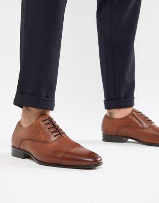 Светло-коричневые кожаные туфли на шнуровке ALDO Legawia