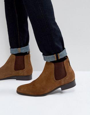 Светло-коричневые замшевые ботинки челси Ben Sherman