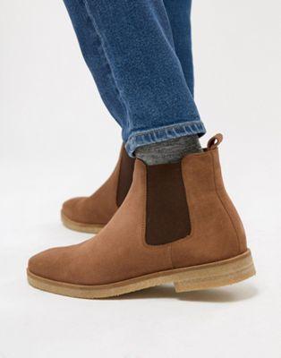 Светло-коричневые замшевые ботинки челси Walk London Hornchurch