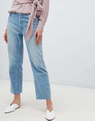 Светлые прямые джинсы Warehouse