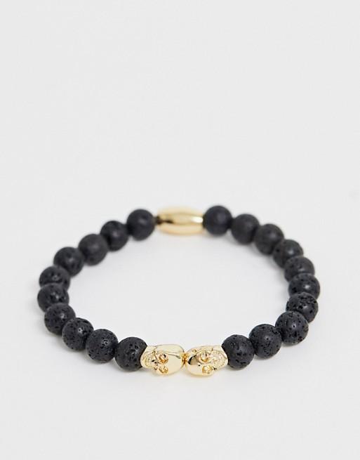 SVNX - Bracelet à perles avec tête de mort