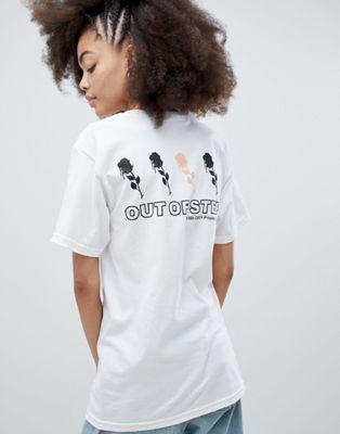Свободная футболка с принтом Obey
