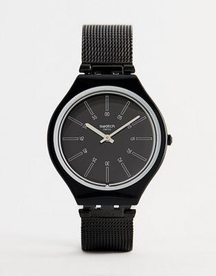Swatch - SVOB100M Skin - Orologio in silicone nero da 43 mm