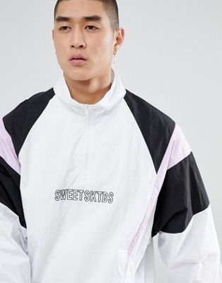 Sweet SKTBS 1/4 Zip Track Jacket In White