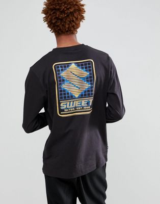 SWEET SKTBS Long Sleeve T-Shirt With Back Print In Black