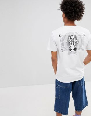 Sweet SKTBS T-Shirt With Psychedelic Back Print In White
