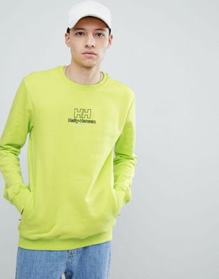 Sweet SKTBS x Helly Hansen Sweat With Back Logo In Neon Yellow