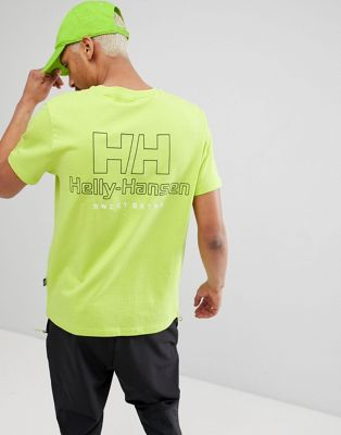SWEET SKTBS x Helly Hansen T-Shirt With Back Logo In Neon Yellow