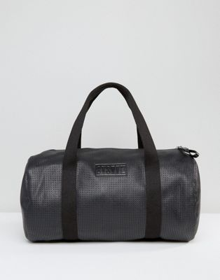 Systvm Duffle Bag In Black PU