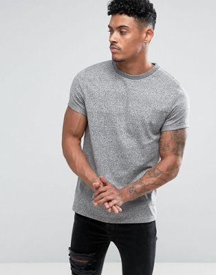 T-shirt med opsmøget ærme i kraftig twistet jersey fra ASOS