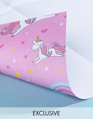 TACHE Exclusive Magical Unicorn Birthday Gift Wrap