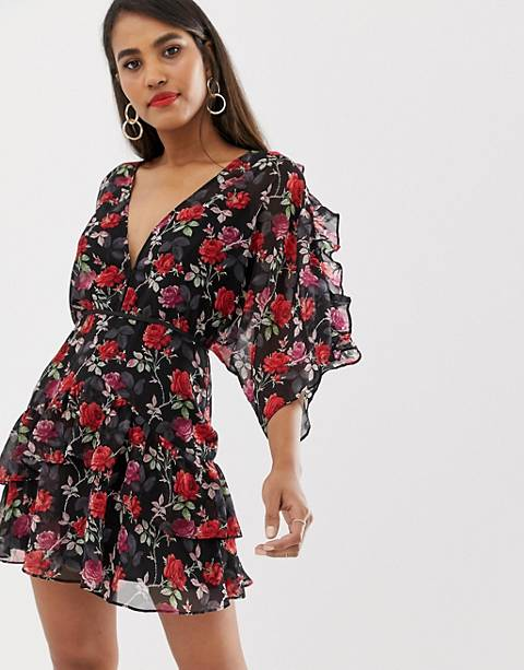 Talulah Jet Rose floral printed dress