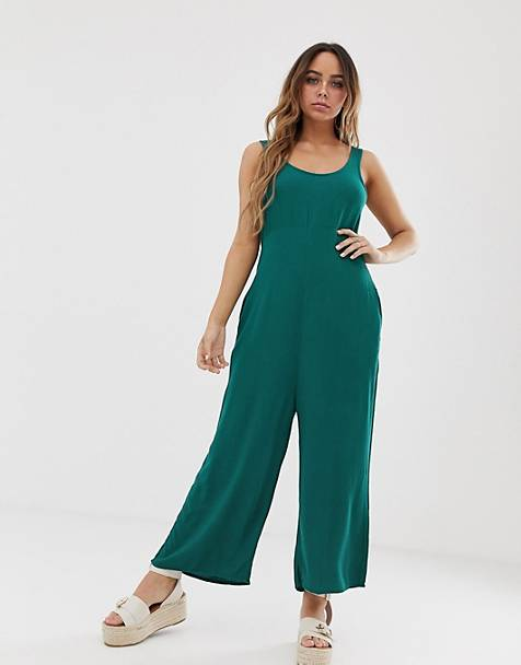 Tavik beach jumpsuit in green