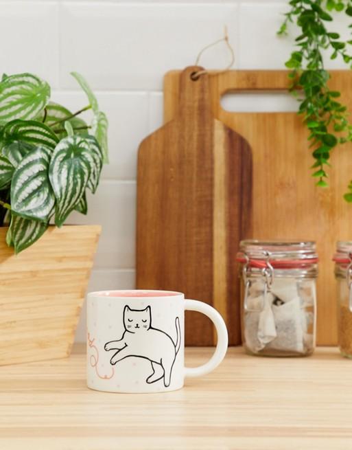 Imagen 1 de Taza con bonito gato Feline Good de Sass & Belle