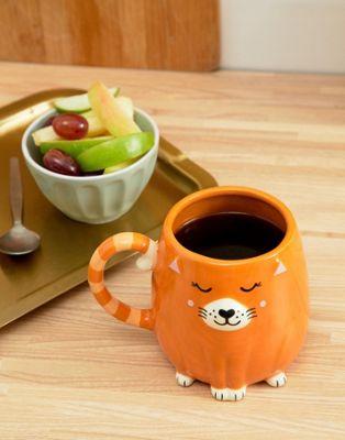 Taza con diseño de gato de Sass & Belle