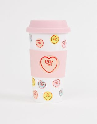 Taza de viaje con diseño de Love Hearts de Fizz