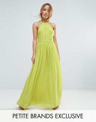 TD By True Decadence Petite Plunge Front Maxi Dress