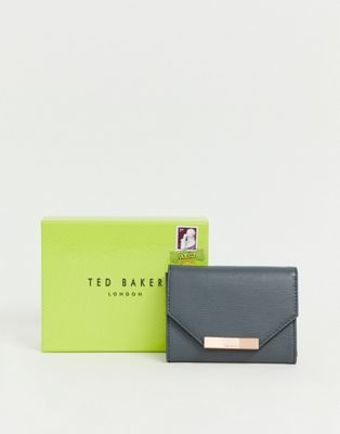Ted Baker Addala textured fold over ladies' wallet with hardware