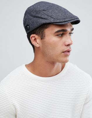 Image 1 of Ted Baker Asam flat cap in herringbone