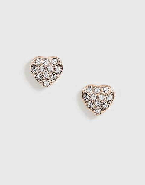 Ted Baker crystal heart earrings