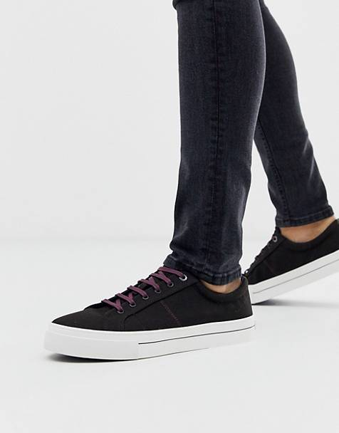 Ted Baker esheron canvas sneakers in black