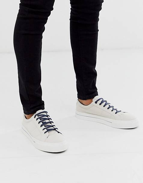 Ted Baker essher plimsolls in White