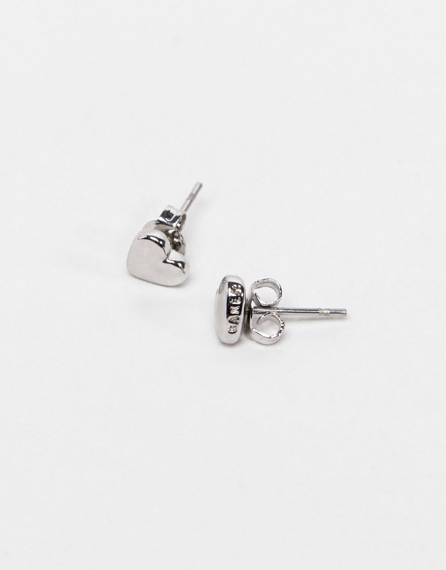 Ted Baker Harly Tiny Heart Stud Earrings In Silver by Ted Baker