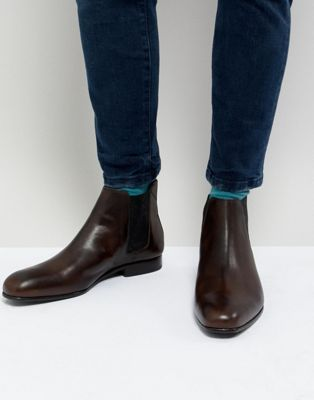 Ted Baker Kayto Leather Chelsea Boots In Brown