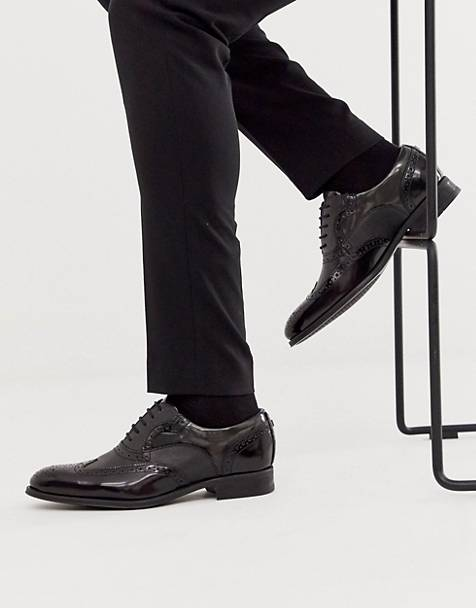 Ted Baker mitamm brogues in hi shine black