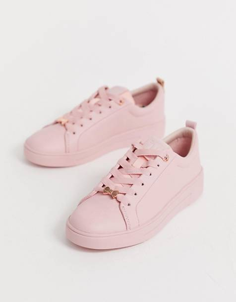 ff0d99388179 Ted Baker pink drench leather trainers