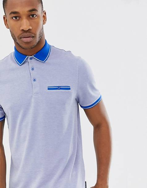Ted Baker polo shirt with contrast collar