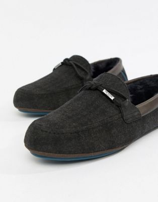 Ted Baker - Pytre - Moccasin pantoffels met ruit