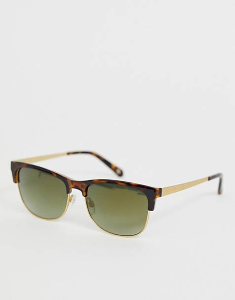 8ad710b92546 Ted Baker retro sunglasses in tort with green lens