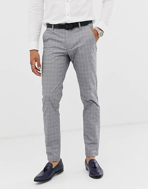 Ted Baker slim fit pants with gray check