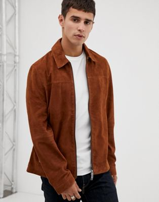 Ted Baker suede jacket in brown