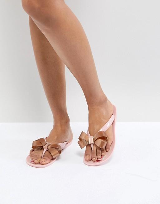 87efea0a263e Ted Baker Suszie Pink Flip Flops
