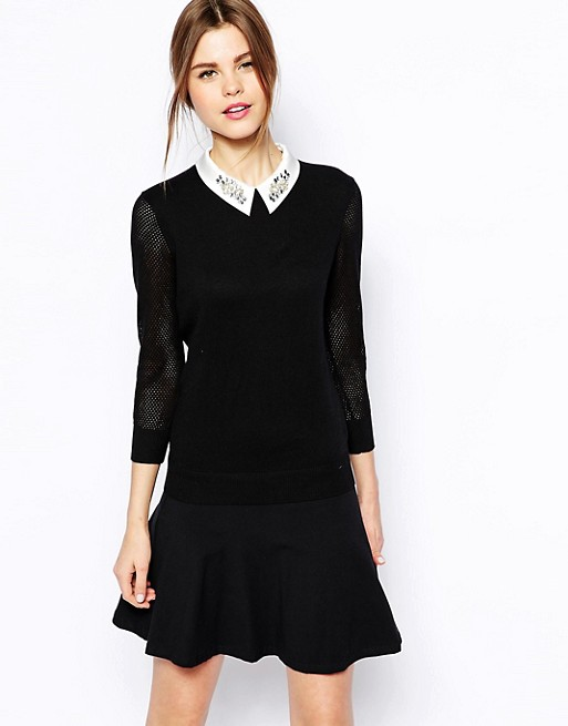 0caf0f51c6455 Ted Baker Sweater with Embellished Collar