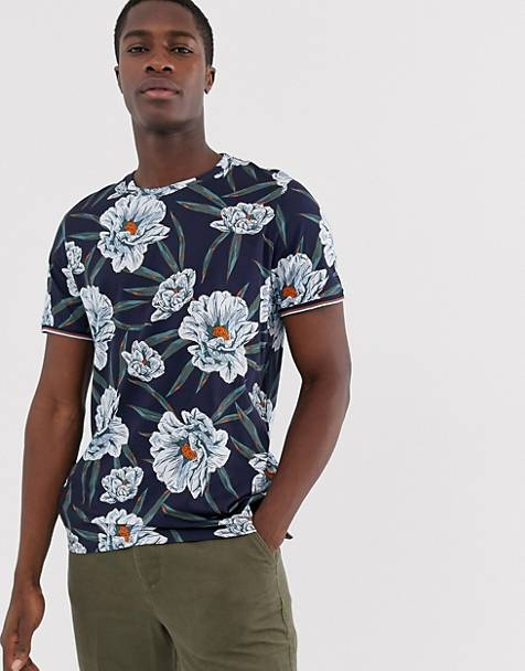 Ted Baker t-shirt with navy floral print