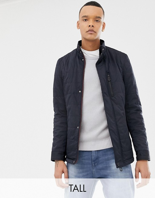 Image 1 of Ted Baker Tall quilted harrington in navy