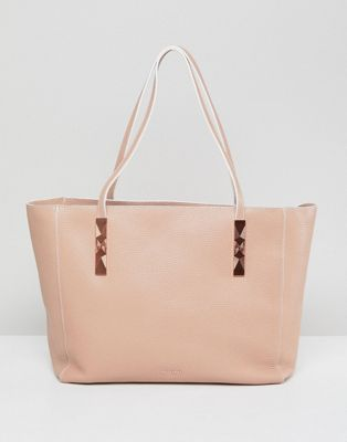 Ted Baker Unlined Soft Grain Leather Zip Tote