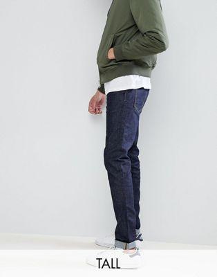 Темно-синие суженные книзу джинсы Burton Menswear TALL