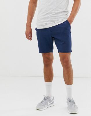 Темно-синие трикотажные шорты в строгом стиле Only & Sons