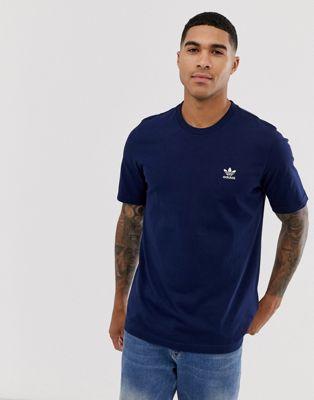 Изображение 1 из Темно-синяя футболка adidas Originals