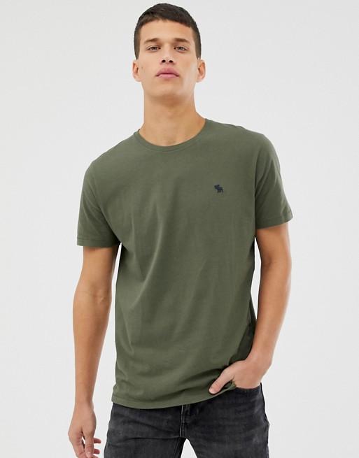 Изображение 1 из Темно-зеленая футболка с логотипом Abercrombie & Fitch
