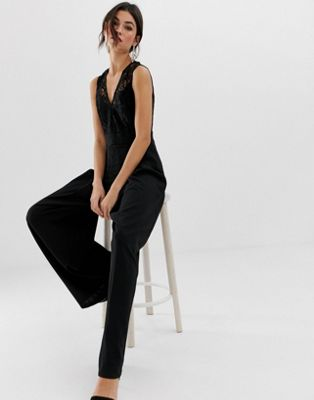 Image 1 of TFNC key hole back lace straight leg jumpsuit