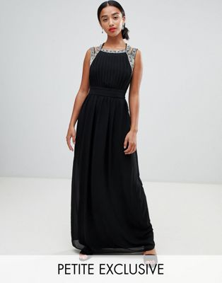 TFNC Petite Embellished Back Maxi Bridesmaid Dress