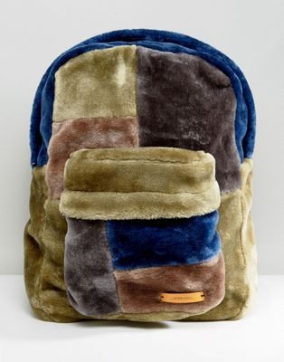 The New County Oversized Faux Fur Backpack
