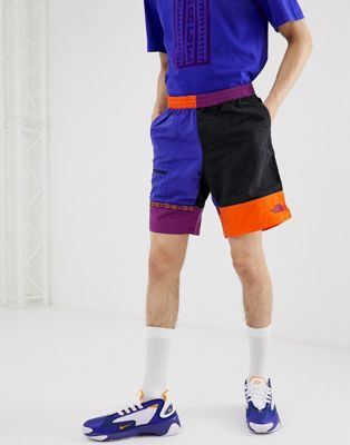 The North Face 92 Rage Lounger shorts in geo-tribal blue
