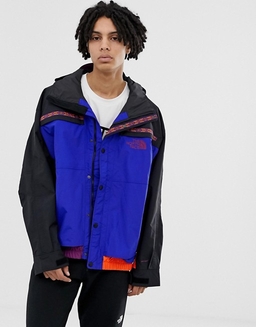 Image 1 of The North Face 92 Rage Retro rain jacket in aztec blue